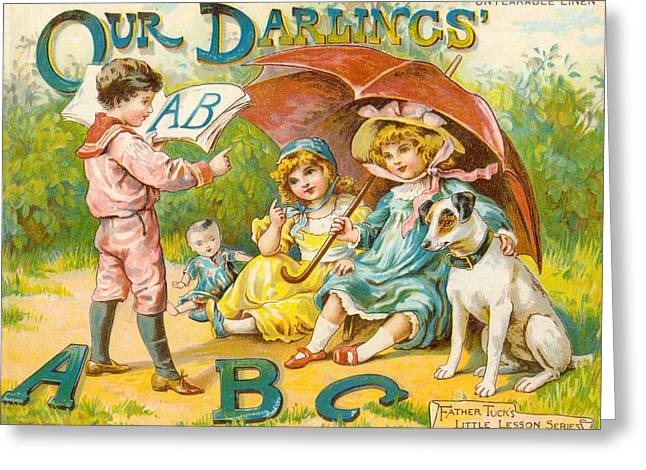 Our Darlings Abc Cover Greeting Card by Reynold Jay