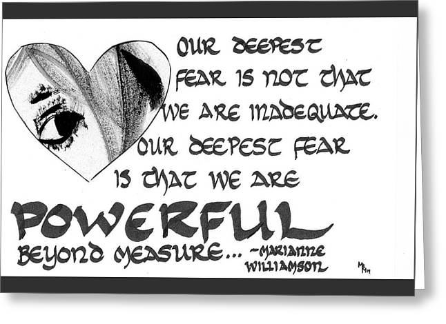 Our Deepest Fear Greeting Card
