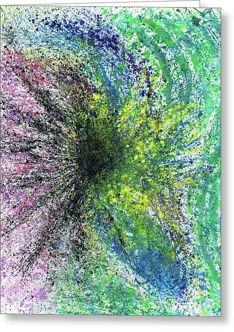 Our Earth Is Always Breathing #531 Greeting Card by Rainbow Artist Orlando L aka Kevin Orlando Lau
