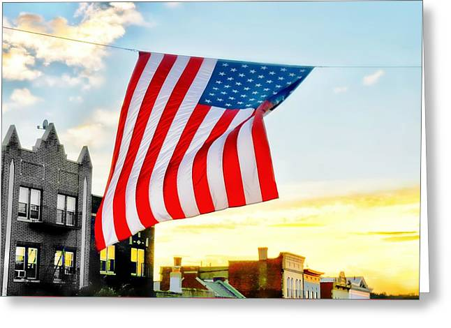 Our Flag Flying High Greeting Card