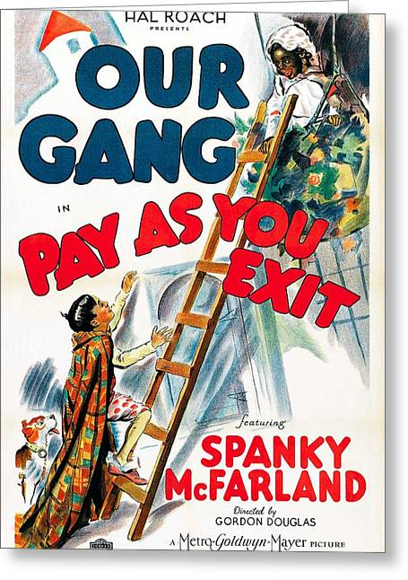 Our Gang 1936 Greeting Card by Mountain Dreams