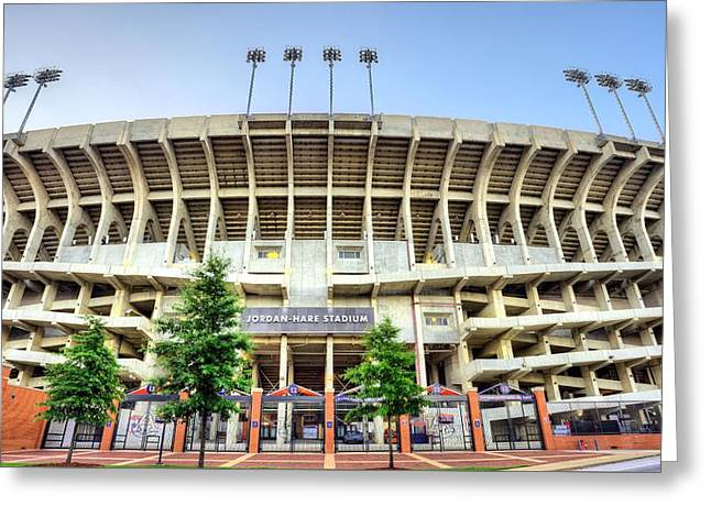 Our House Auburn University Jordan-hare Greeting Card by JC Findley