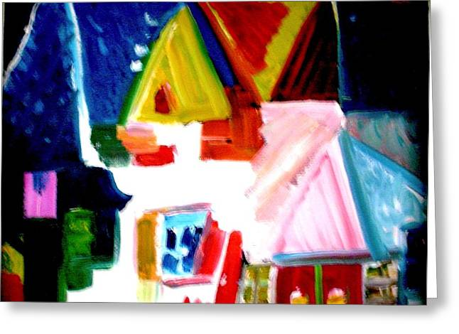 Greeting Card featuring the painting Our House Is A Very Very Very Fine House by Laura  Grisham