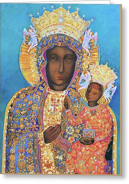 Our Lady Czestochowa Black Madonna Greeting Card by Magdalena Walulik