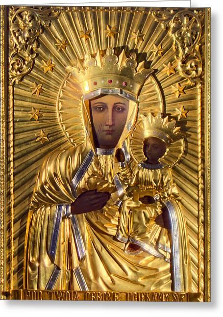 Our Lady Of Czestochowa Poland Greeting Card by Magdalena Walulik