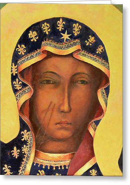 Our Lady Of Czestochowa Virgin Mary Greeting Card by Magdalena Walulik