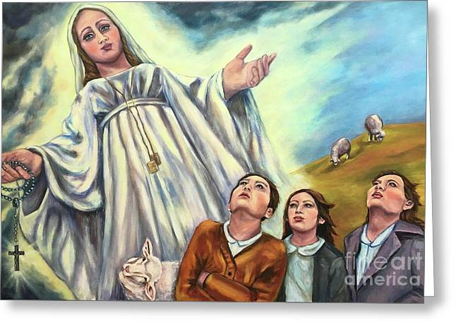 Our Lady Of Fatima  Greeting Card by Laura Napoli