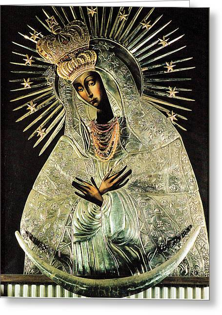 Our Lady Of Gate Of Dawn Greeting Card by Magdalena Walulik