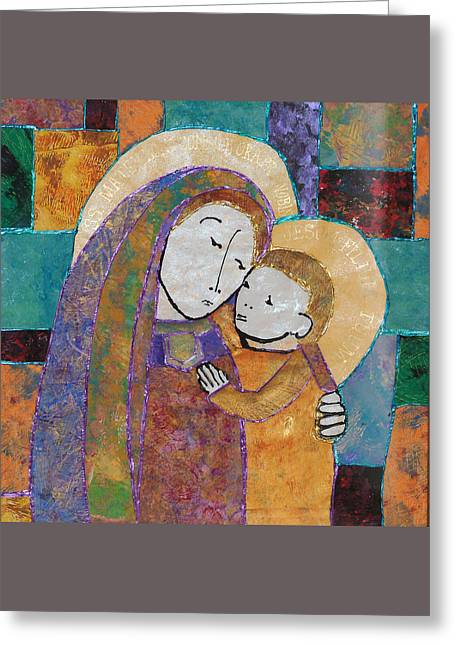 Our Lady Of Good Counsel Greeting Card by Carol Cole
