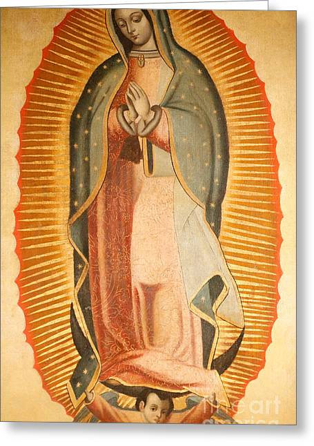 Our Lady Of Guadalupe Greeting Card by American School