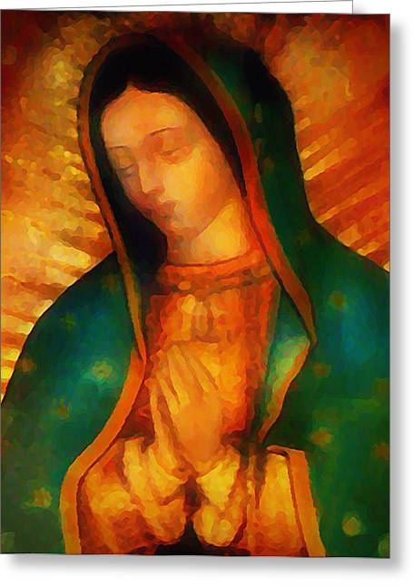 Virgin Mary Greeting Cards - Our Lady of Guadalupe Greeting Card by Bill Cannon