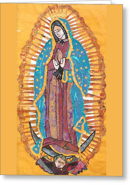 Our Lady Of Guadalupe Greeting Card by Carol Cole
