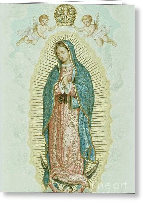 Our Lady Of Guadalupe Greeting Card by French School
