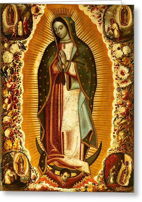 Our Lady Of Guadalupe Greeting Card by Magdalena Walulik