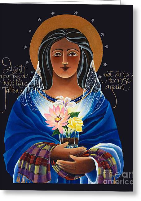 Our Lady Of Light - Help Of The Addicted - Mmlol Greeting Card