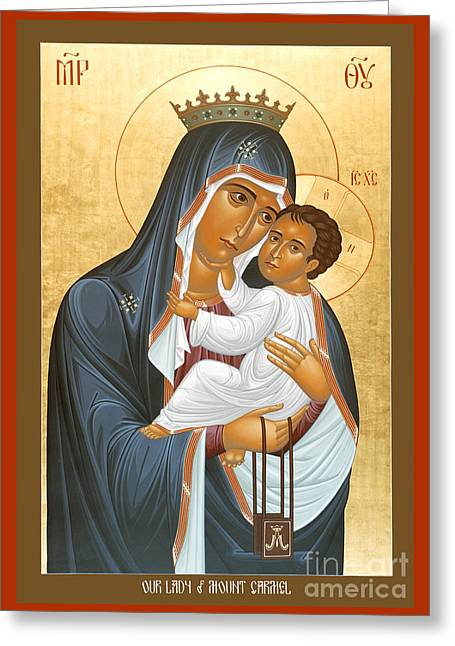Our Lady Of Mount Carmel - Rlolc Greeting Card