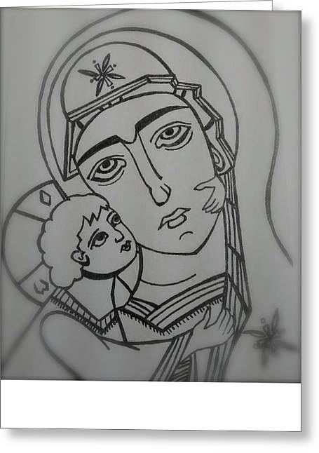 Our Lady Of Perpetual Help Greeting Card by Danielle Tayabas