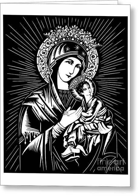 Our Lady Of Perpetual Help - Dpolh Greeting Card by Dan Paulos