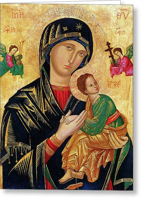 Our Lady Of Perpetual Help Icon Greeting Card by Magdalena Walulik