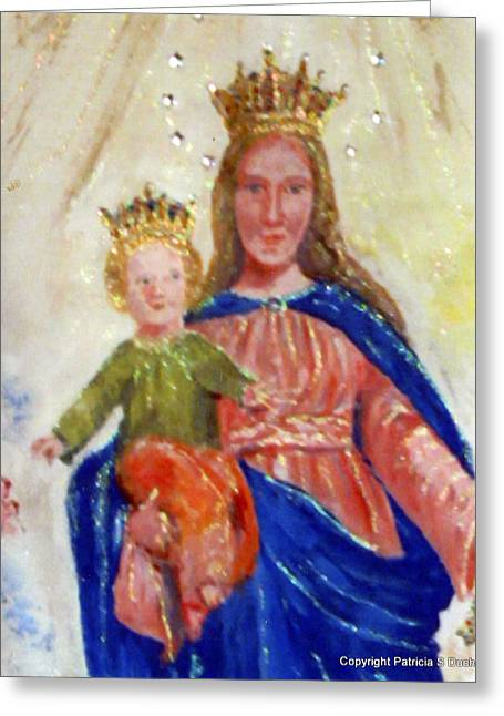 Our Lady Of Perpetual Help Greeting Card by Patricia Ducher