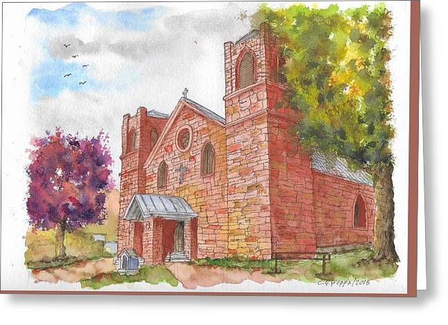 Our Lady Of Sorrow Catholic Church, Las Vegas, New Mexico Greeting Card