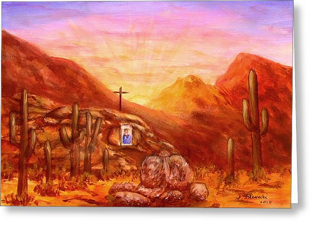 Our Lady Of The Desert Greeting Card by Judy Filarecki
