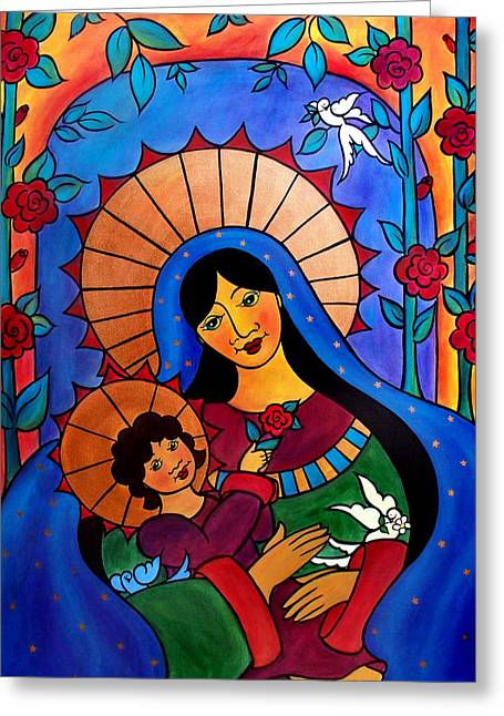Our Lady Of The Garden Greeting Card