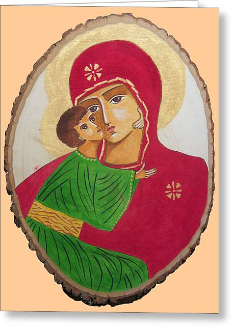 Our Lady Of Vladimir Greeting Card