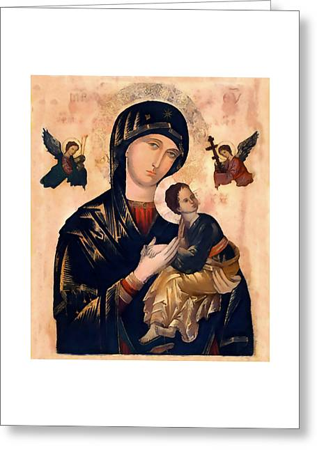 Our Mother Of Perpetual Help Greeting Card by Albert Sellaman