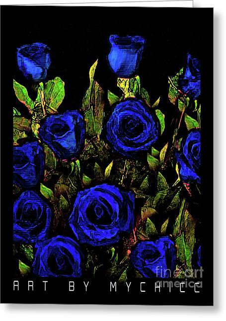 Our Officers In Blue Greeting Card by Art by MyChicC