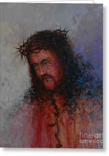 Our Precious Savior Greeting Card by Michael Nowak