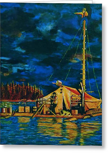 Pontoon Greeting Cards - Our Raft Greeting Card by Rick Ritchie