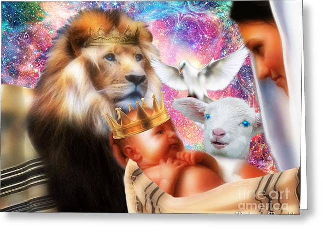 Our Saviors Birth Greeting Card by Dolores Develde