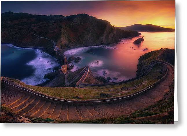 Our Small Wall Of China Greeting Card by Mikel Martinez de Osaba