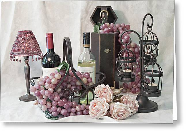 Our Wine Cellar Greeting Card by Sherry Hallemeier