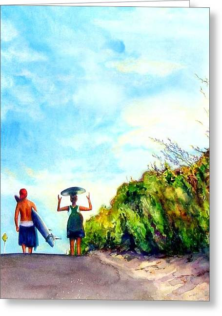 Our World Greeting Card by Kathy Dueker