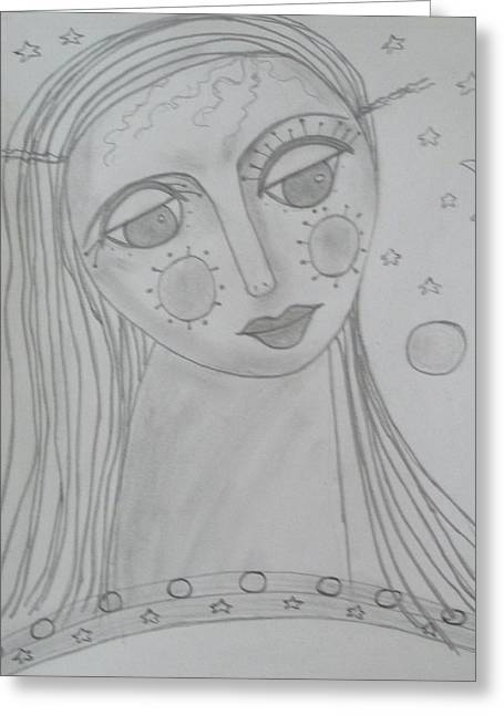 Ourania-platos Muse Of Astronomy Greeting Card