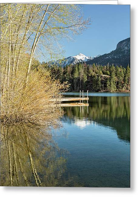 Ouray County Postcard Scene Greeting Card