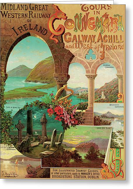ours in Connemara, Midland Great Western Railway of Ireland Greeting Card by Hugo d'Alesi