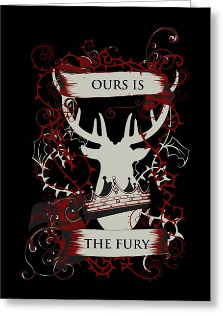 Greeting Card featuring the digital art Ours Is The Fury by Christopher Meade