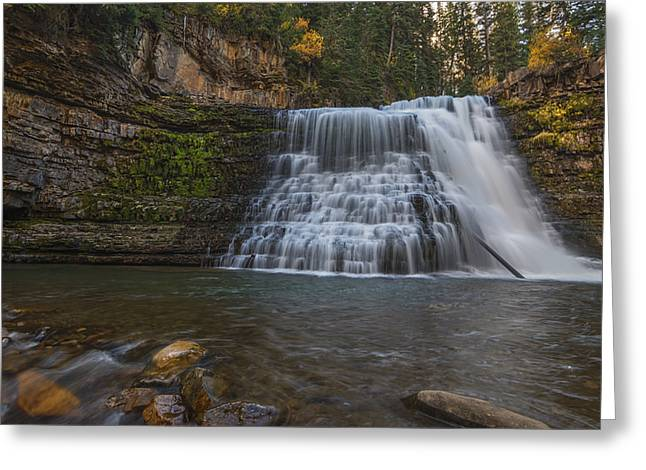 Ousel Falls Greeting Card by Loree Johnson