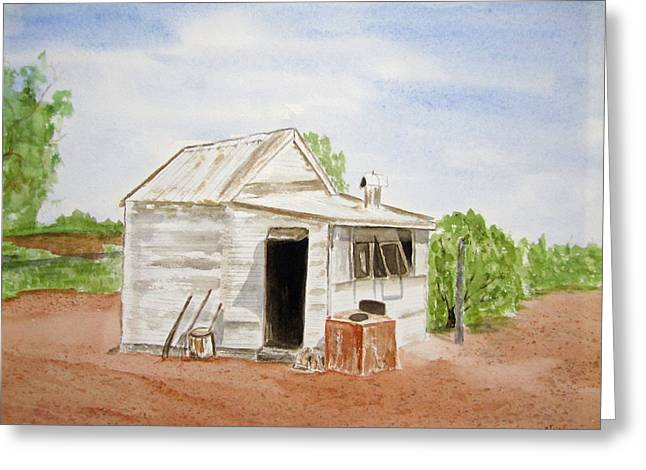 Old Miners Hut Greeting Card