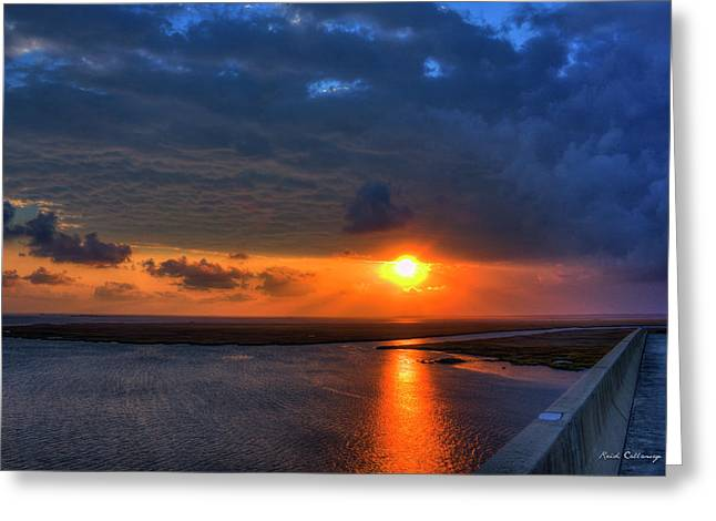 Out From Under The Storm Jekyll Island Sunset Art Greeting Card by Reid Callaway