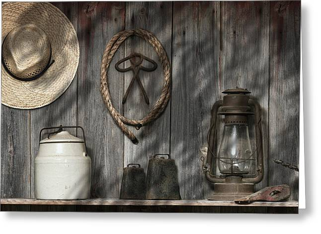 Out In The Barn IIi Greeting Card by Tom Mc Nemar