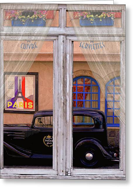 Out My Window - Paris Greeting Card