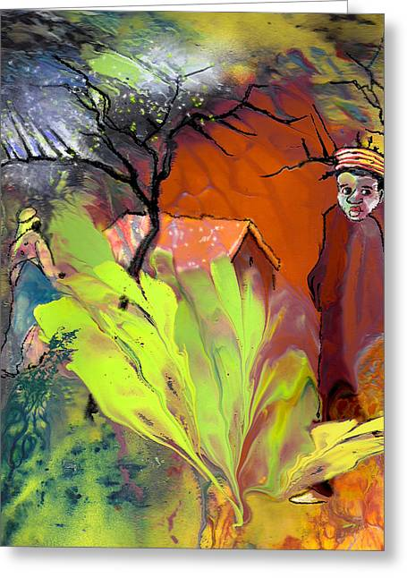 Out Of Africa Greeting Card by Miki De Goodaboom