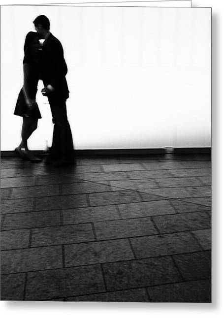 Out Of Focus Couple Kissing Greeting Card by Gillham Studios
