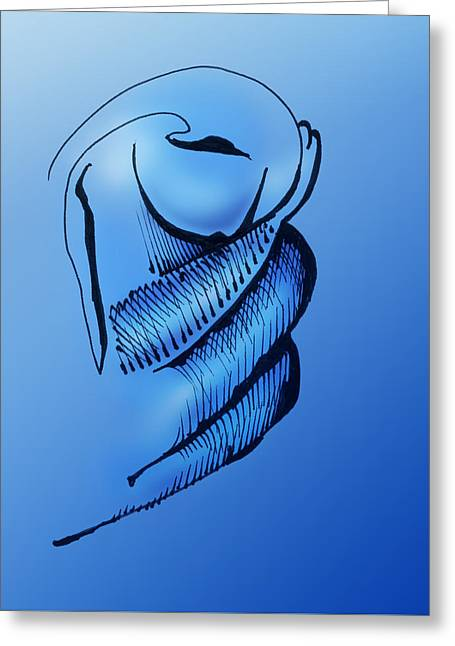 Greeting Card featuring the drawing Out Of The Blue Aventurine by Keith A Link