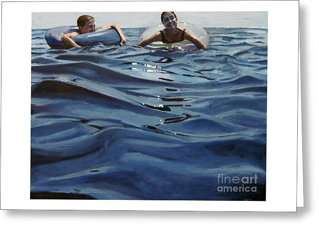 Out Of The Blue Greeting Card by Deb Putnam