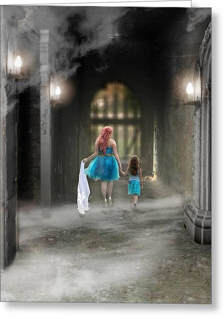 Out Of The Darkness Greeting Card by Brenda Giasson